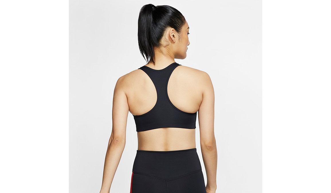 Women's Nike Swoosh Sports Bra - Color: Black/White - Size: XS, Black/White, large, image 3