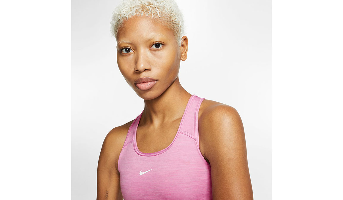 Women's Nike Swoosh Sports Bra - Color: Magic Flamingo/Pure/White Size: XS, Magic Flamingo/Pure/White, large, image 2