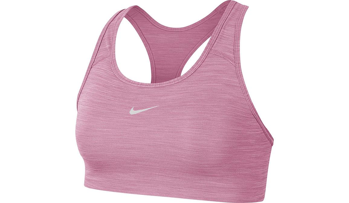 Women's Nike Swoosh Sports Bra - Color: Magic Flamingo/Pure/White Size: XS, Magic Flamingo/Pure/White, large, image 4