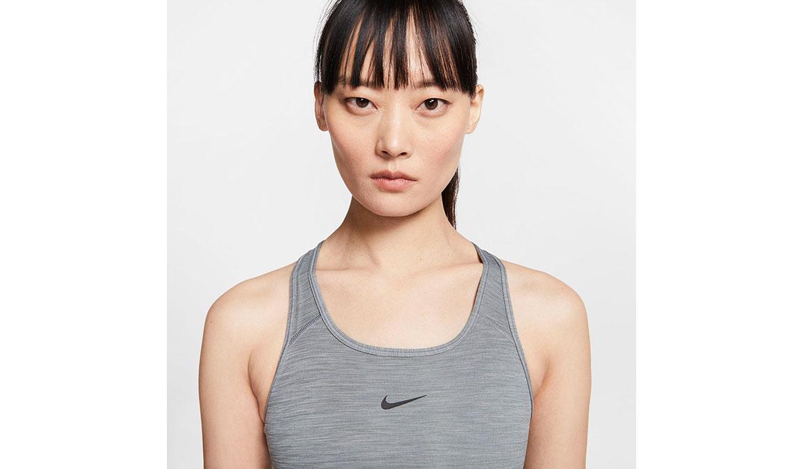 Women's Nike Swoosh Sports Bra - Color: Smoke Grey/Black - Size: XS, Smoke Grey/Black, large, image 2