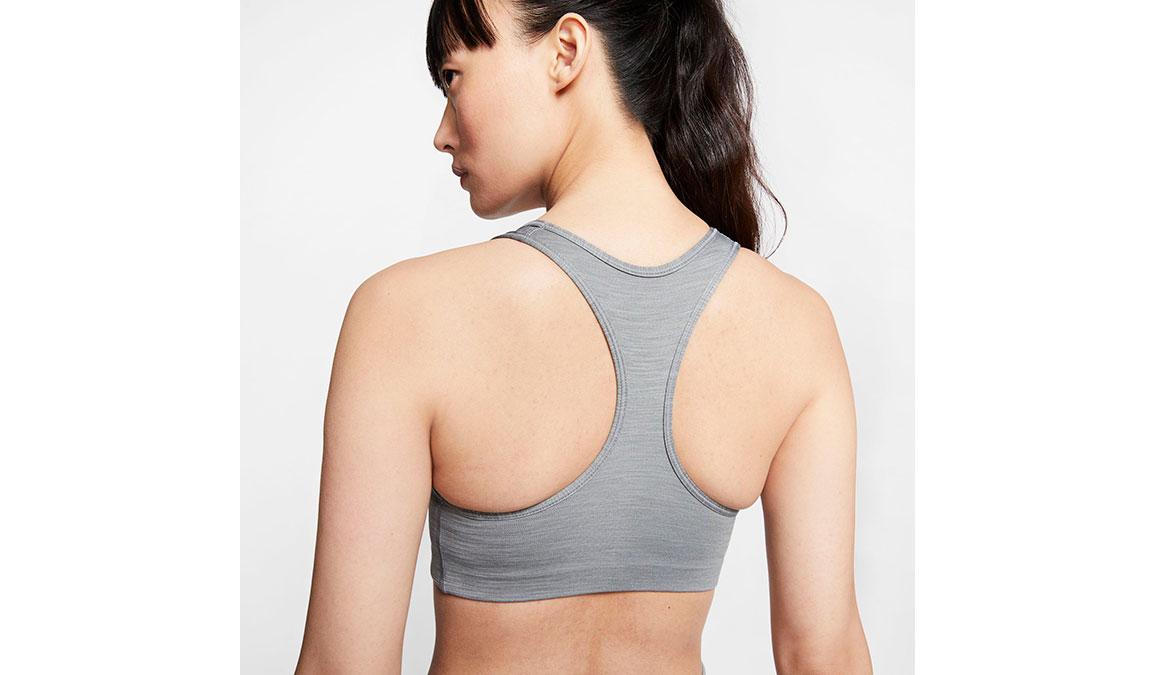 Women's Nike Swoosh Sports Bra - Color: Smoke Grey/Black Size: XS, Smoke Grey/Black, large, image 3