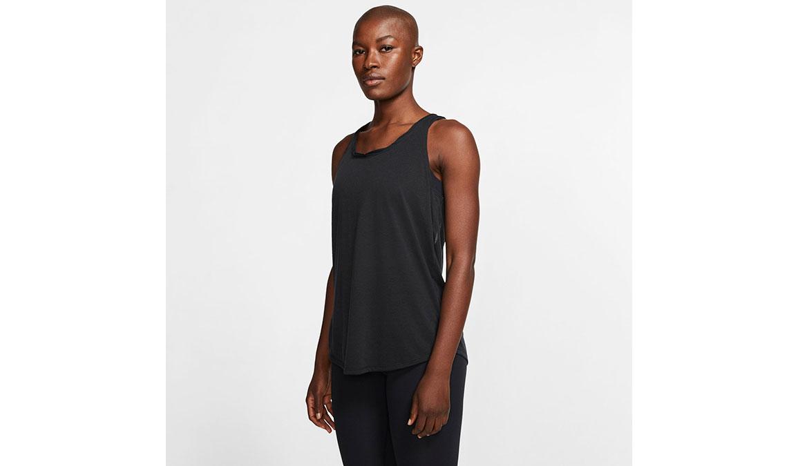 Women's Nike Yoga Twist Tank - Color: Black/Dark Smoke Grey Size: XS, Black/Dark Smoke Grey, large, image 1