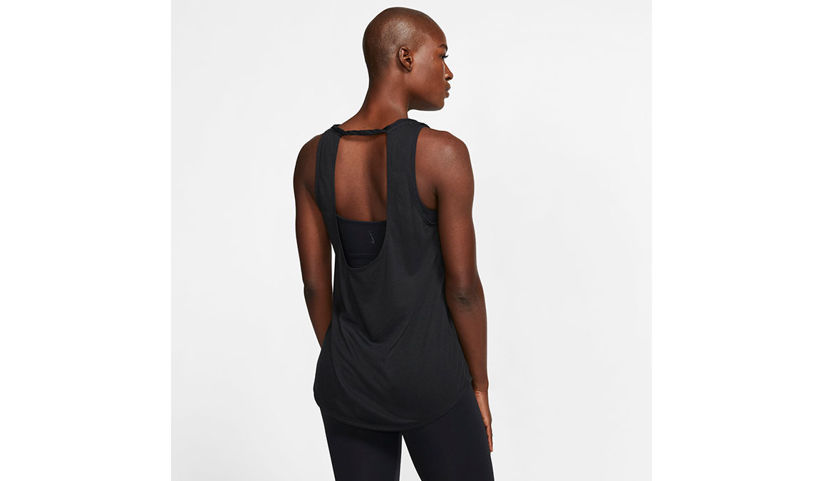 Women's Nike Yoga Twist Tank - Color: Black/Dark Smoke Grey Size: XS, Black/Dark Smoke Grey, large, image 3