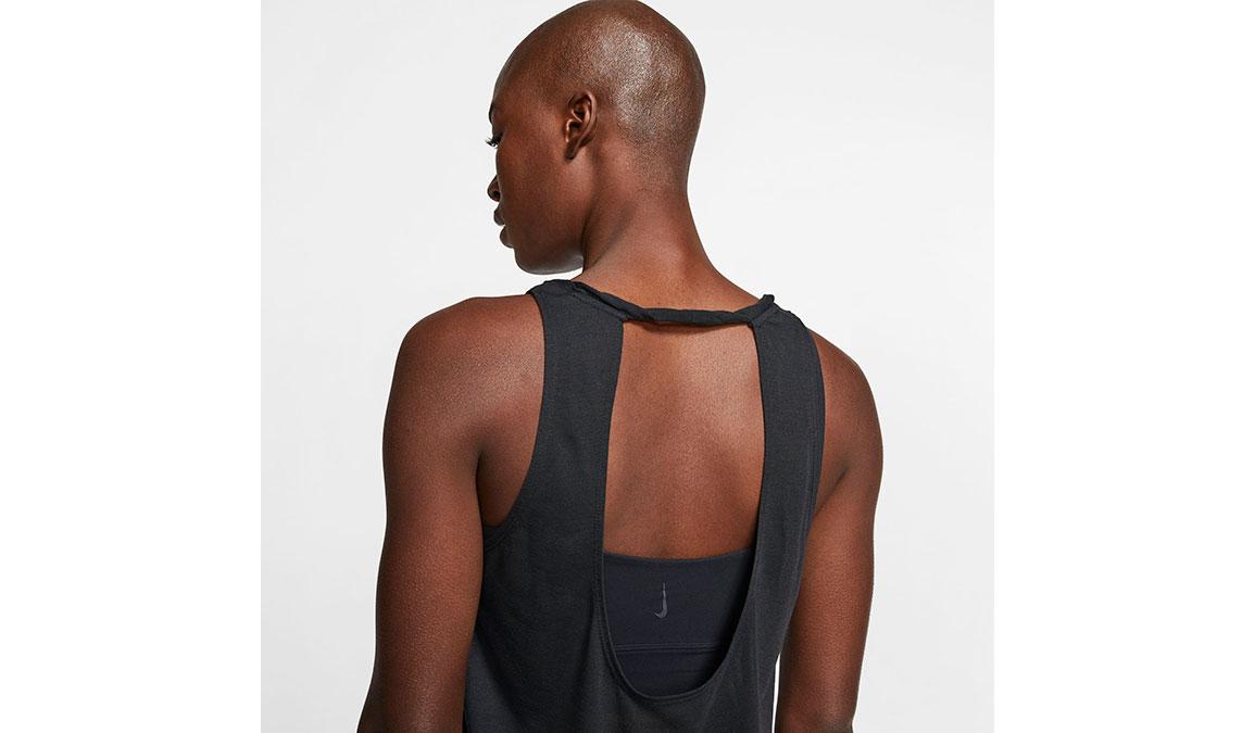 Women's Nike Yoga Twist Tank - Color: Black/Dark Smoke Grey Size: XS, Black/Dark Smoke Grey, large, image 4