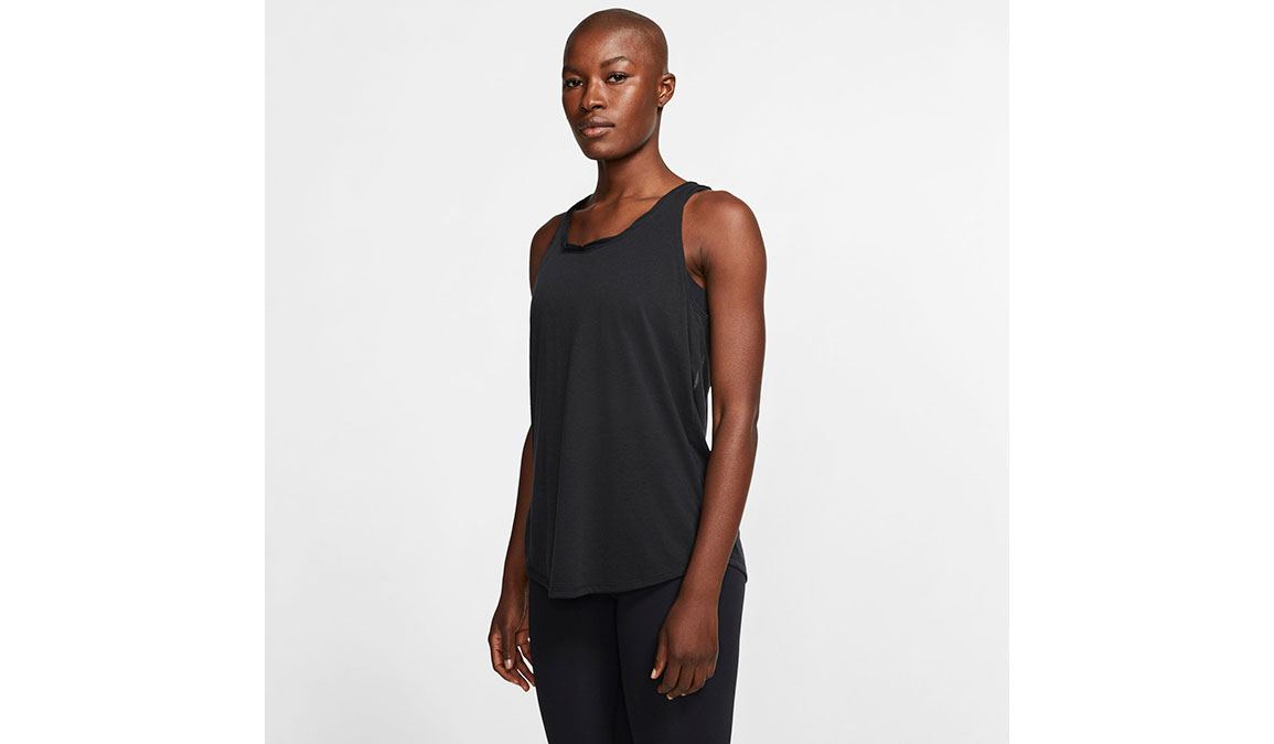 Women's Nike Yoga Twist Tank - Color: Black/Dark Smoke Grey Size: XS, Black/Dark Smoke Grey, large, image 1