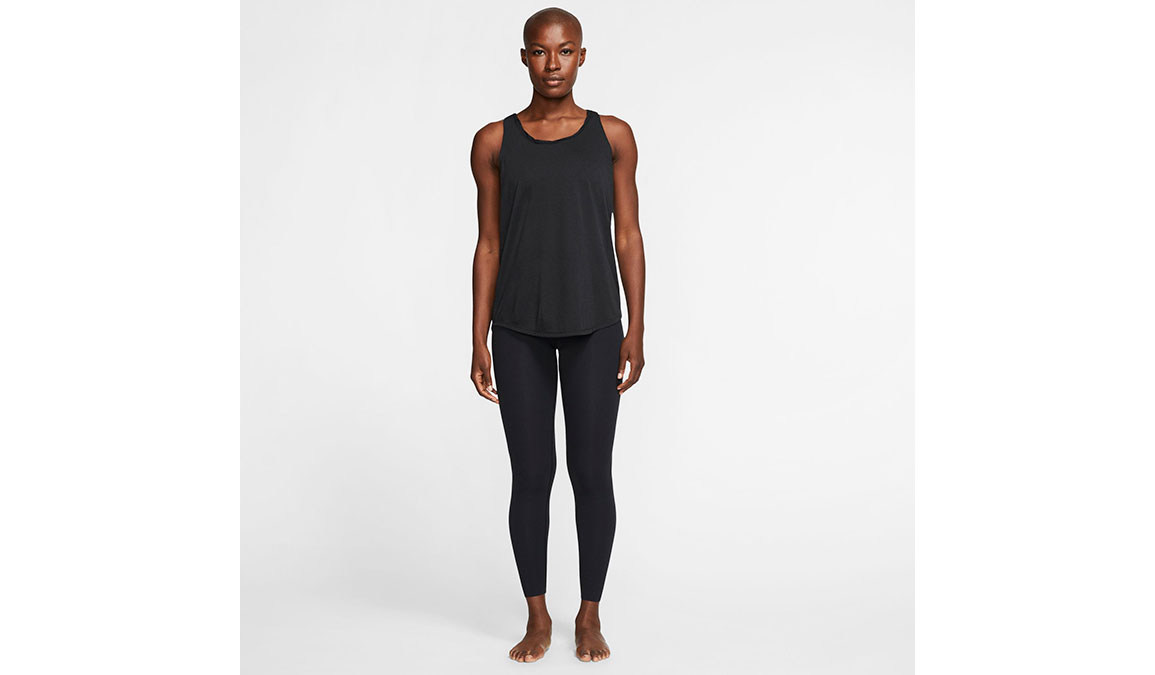 Women's Nike Yoga Twist Tank - Color: Black/Dark Smoke Grey Size: XS, Black/Dark Smoke Grey, large, image 2
