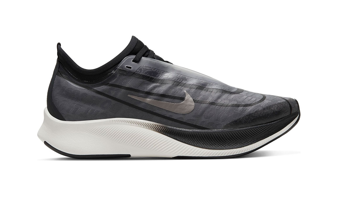 Women's Nike Zoom Fly 3 Running Shoe - Color: Dark Smoke Grey/Black/Metallic Pewter (Regular Width) - Size: 6, Dark Smoke Grey/Black/Metallic Pewter, large, image 1