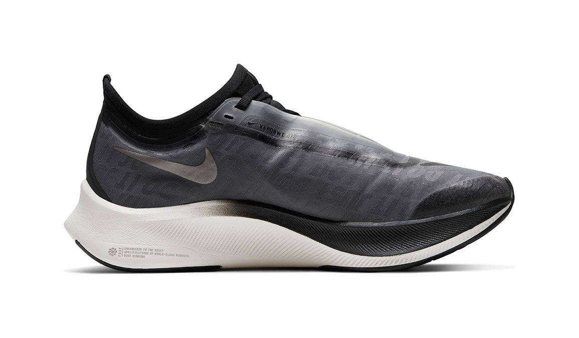 Women's Nike Zoom Fly 3 Running Shoe - Color: Dark Smoke Grey/Black/Metallic Pewter (Regular Width) - Size: 6, Dark Smoke Grey/Black/Metallic Pewter, large, image 2