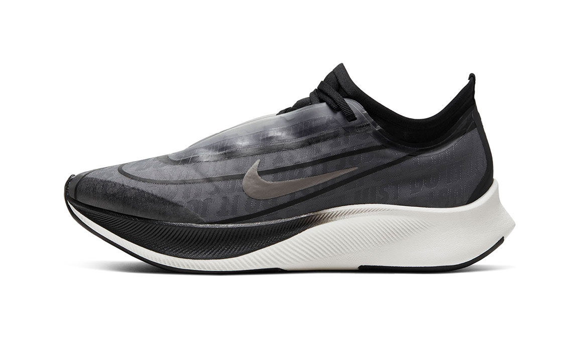 Women's Nike Zoom Fly 3 Running Shoe - Color: Dark Smoke Grey/Black/Metallic Pewter (Regular Width) - Size: 6, Dark Smoke Grey/Black/Metallic Pewter, large, image 3
