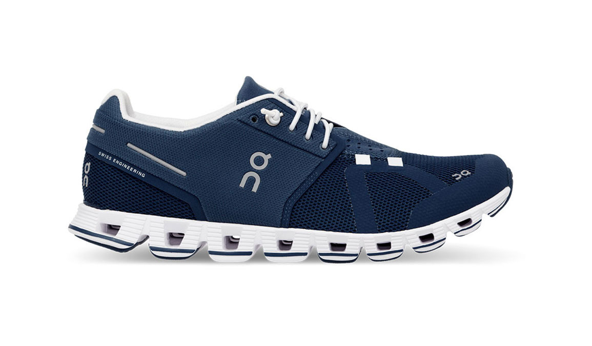 Women's On Cloud Running Shoe - Color: Denim/White (Regular Width) - Size: 5.5, Denim/White, large, image 1