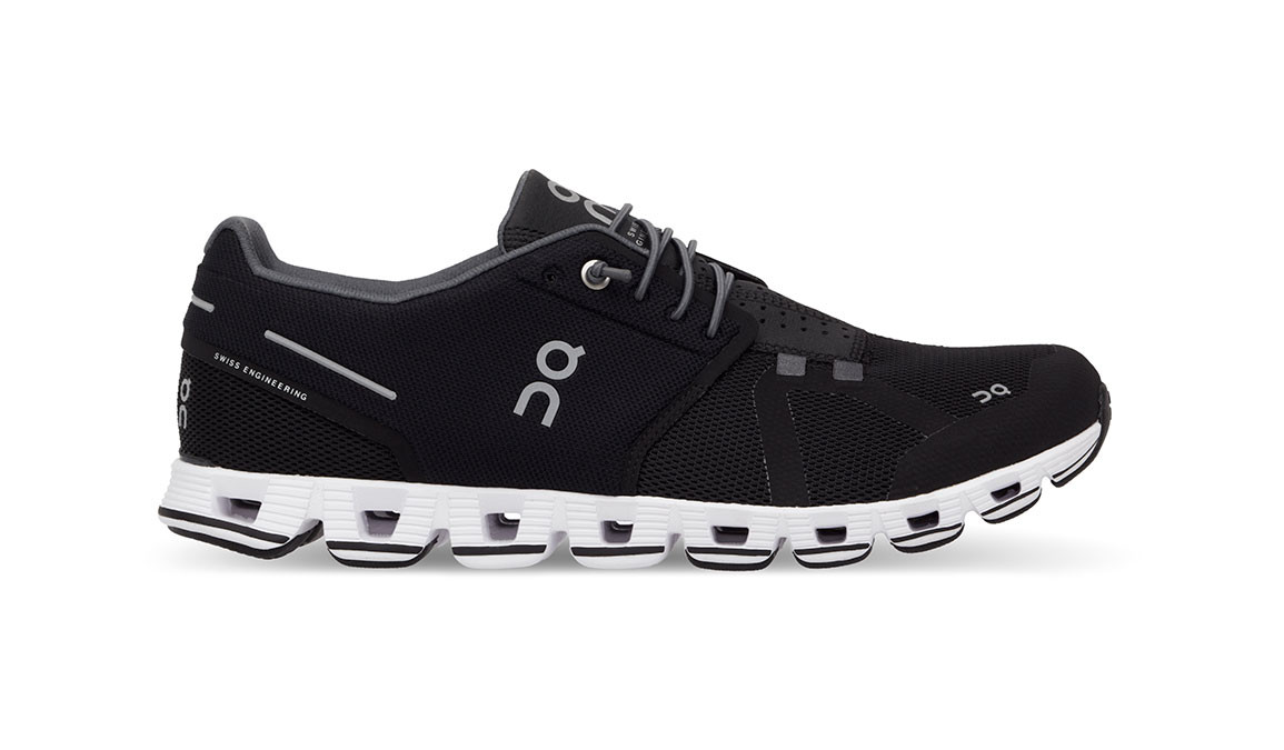Women's On Cloud Running Shoes - Color: Black/White (Regular Width) - Size: 6.5, Black/White, large, image 1