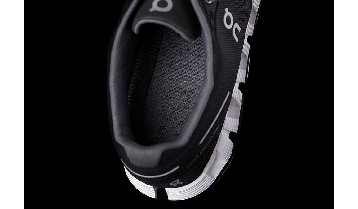 Women's On Cloud Running Shoes - Color: Black/White (Regular Width) - Size: 6.5, Black/White, large, image 3