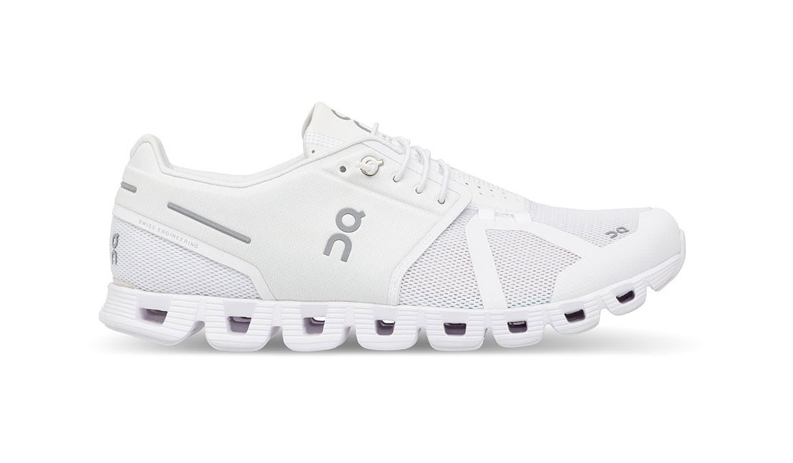 Women's On Cloud Running Shoes - Color: White (Regular Width) - Size: 7, White, large, image 1