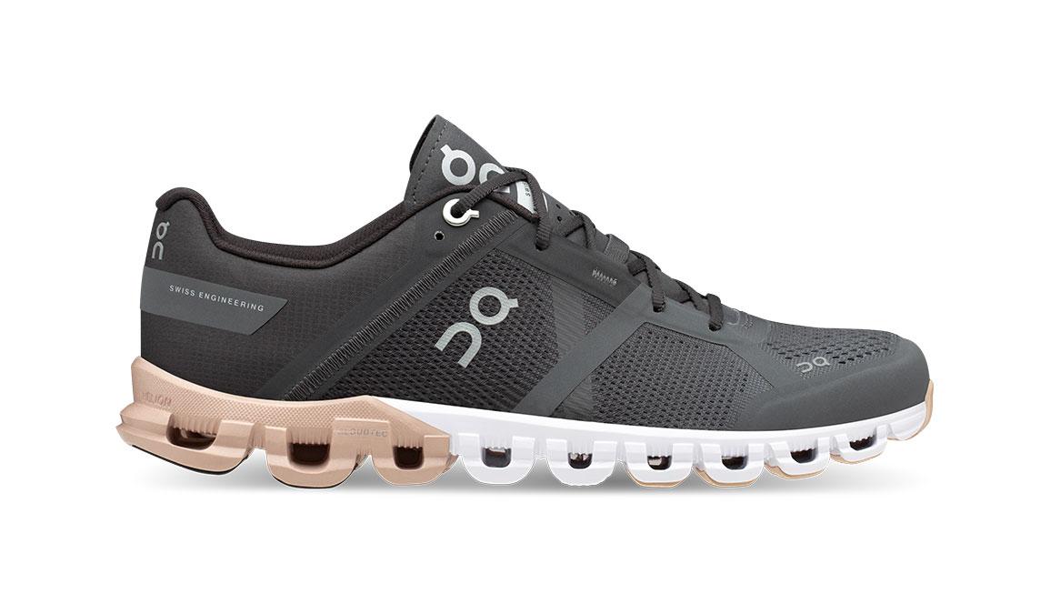 Women's On Cloudflow Running Shoe - Color: Rock/Rose (Regular Width) - Size: 6.5, Grey/Rose, large, image 1