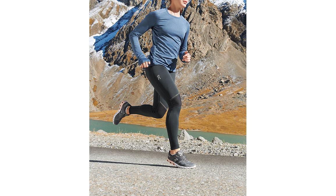 Women's On Cloudflow Running Shoe - Color: Rock/Rose (Regular Width) - Size: 6.5, Grey/Rose, large, image 3
