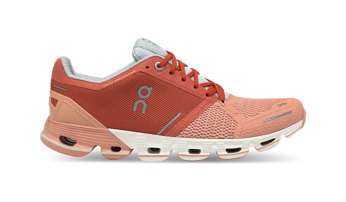 Women's On Cloudflyer Running Shoe - Color: Ginger/White (Regular Width) - Size: 6.5, Ginger, large, image 1