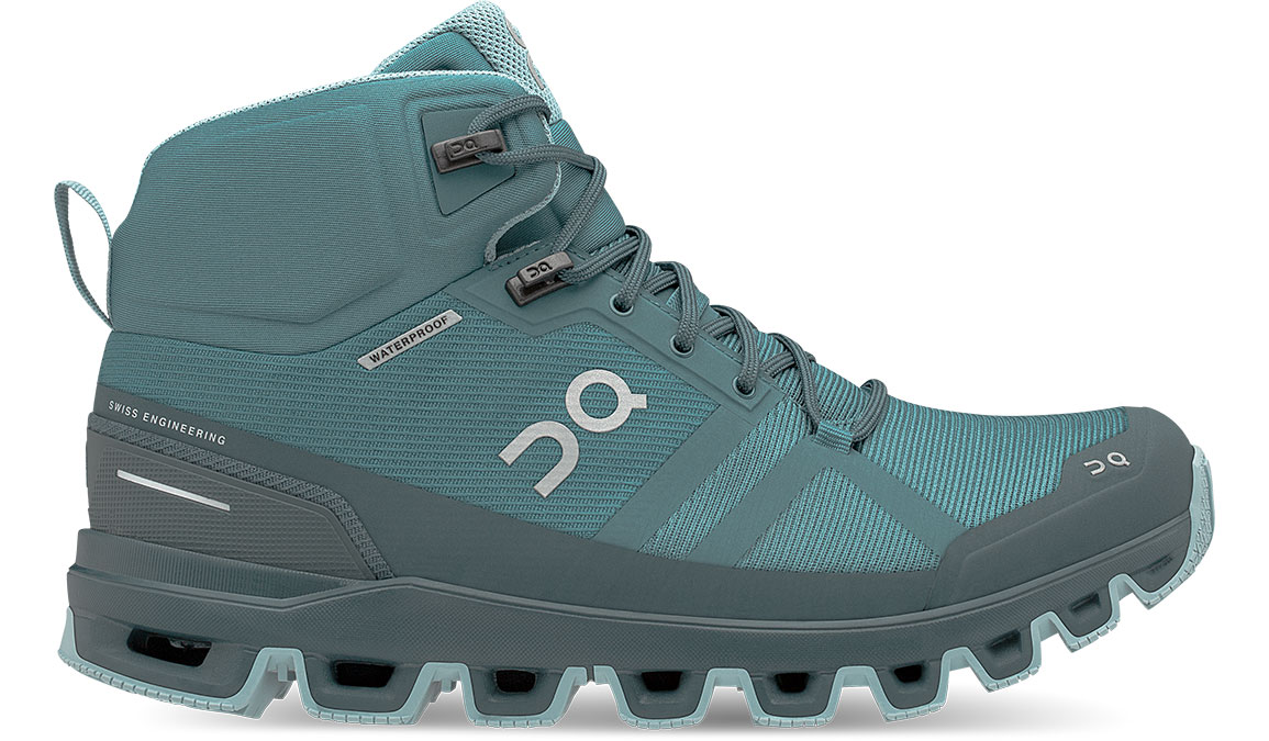 Women's On Cloudrock Waterproof Trail Running Shoe - Color: Storm/Wash (Regular Width) - Size: 5, Storm/Wash, large, image 1