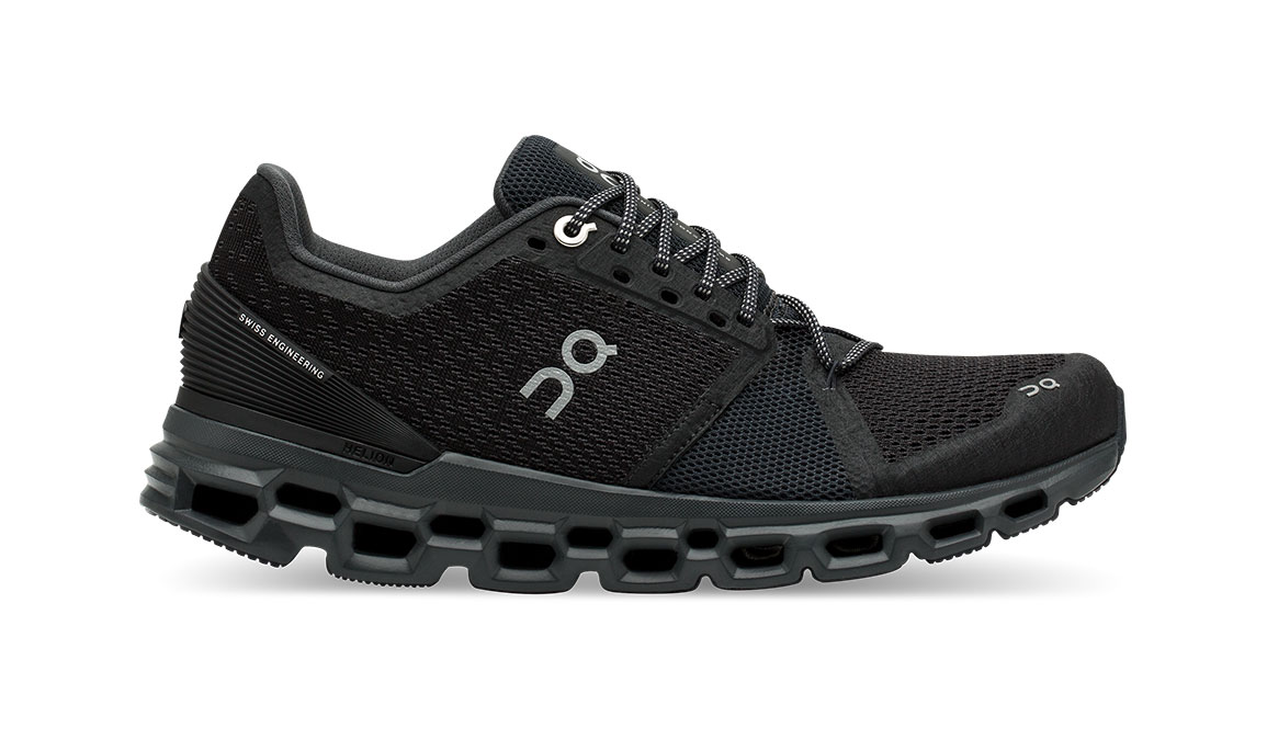 Women's On Cloudstratus Running Shoe - Color: Black/Shadow (Regular Width) - Size: 10, Black, large, image 1