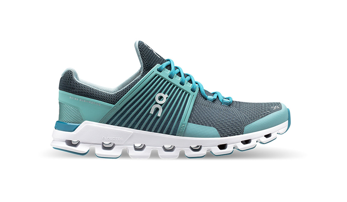 Women's On Cloudswift Running Shoe - Color: Teal/Storm (Regular Width) - Size: 6.5, Teal, large, image 1