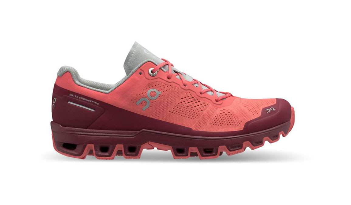 Women's On Cloudventure Trail Running Shoe - Color: Coral/Mulberry (Regular Width) - Size: 6, Coral, large, image 1