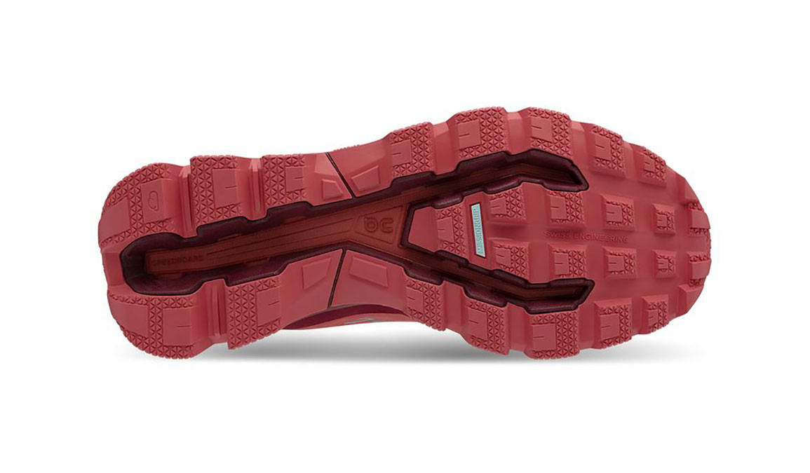 Women's On Cloudventure Trail Running Shoe - Color: Coral/Mulberry (Regular Width) - Size: 6, Coral, large, image 2