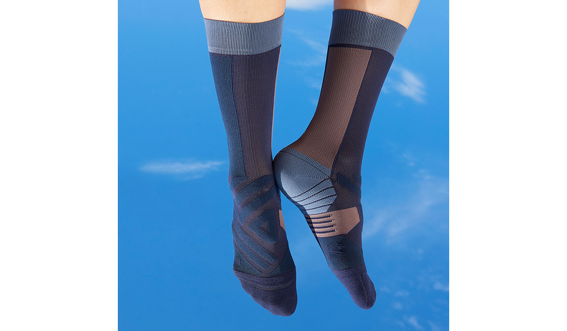 Women's On High Sock - Color: Navy/Grape Size: XS, Navy, large, image 1