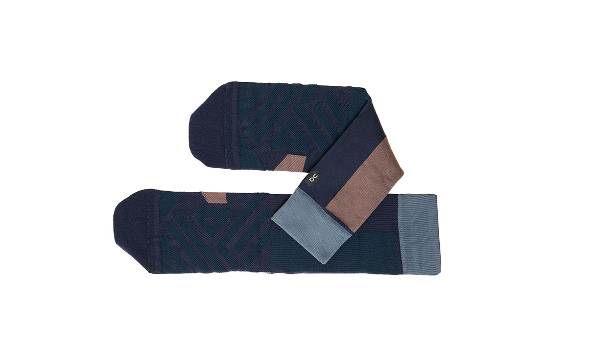 Women's On High Sock - Color: Navy/Grape Size: XS, Navy, large, image 2
