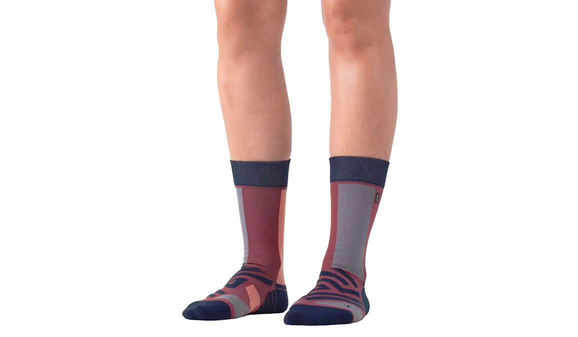 Women's On High Sock - Color: Ox/Navy Size: XS, Red/Navy, large, image 1