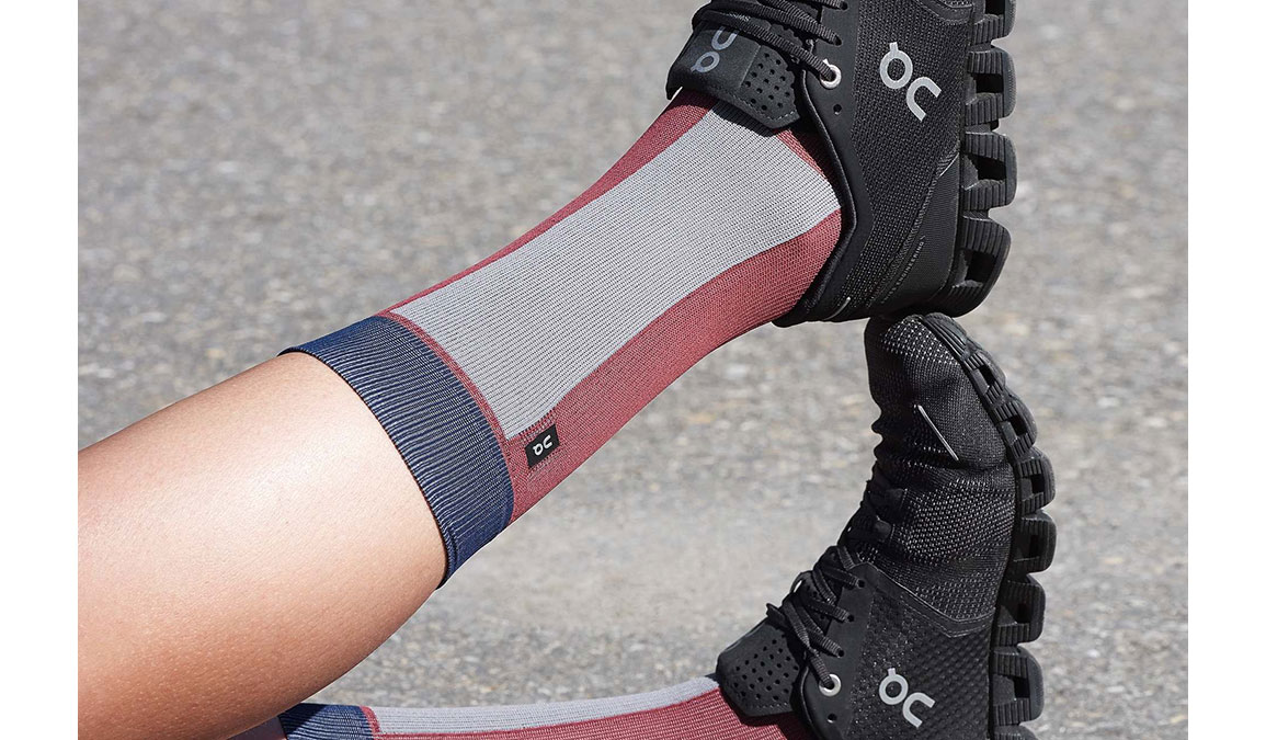 Women's On High Sock - Color: Ox/Navy Size: XS, Red/Navy, large, image 3
