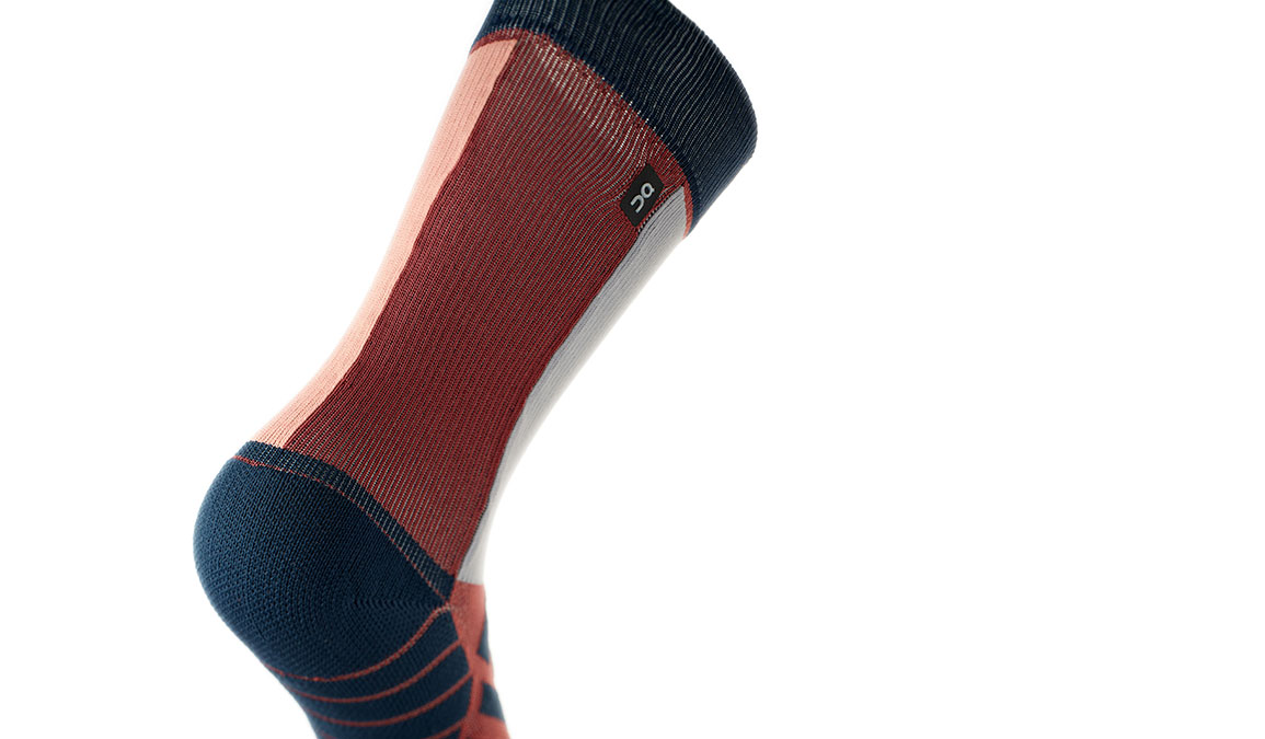 Women's On High Sock - Color: Ox/Navy Size: XS, Red/Navy, large, image 4