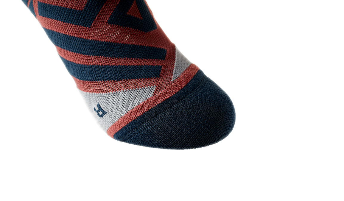 Women's On High Sock - Color: Ox/Navy Size: XS, Red/Navy, large, image 5
