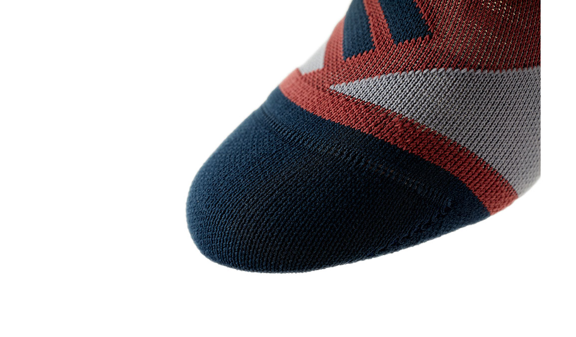 Women's On High Sock - Color: Ox/Navy Size: XS, Red/Navy, large, image 6