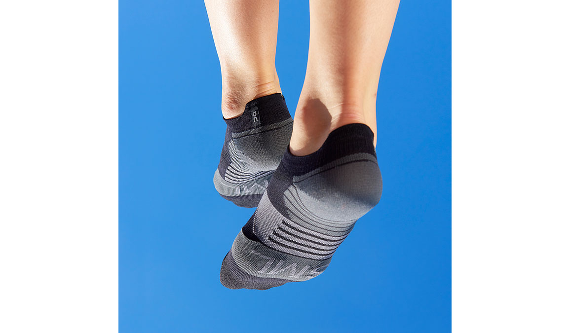 Women's On Low Sock - Color: Black/Shadow Size: S, Black, large, image 1