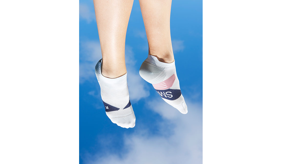 Women's On Low Sock - Color: Grey/Midnight Size: XS, Grey/Blue, large, image 1