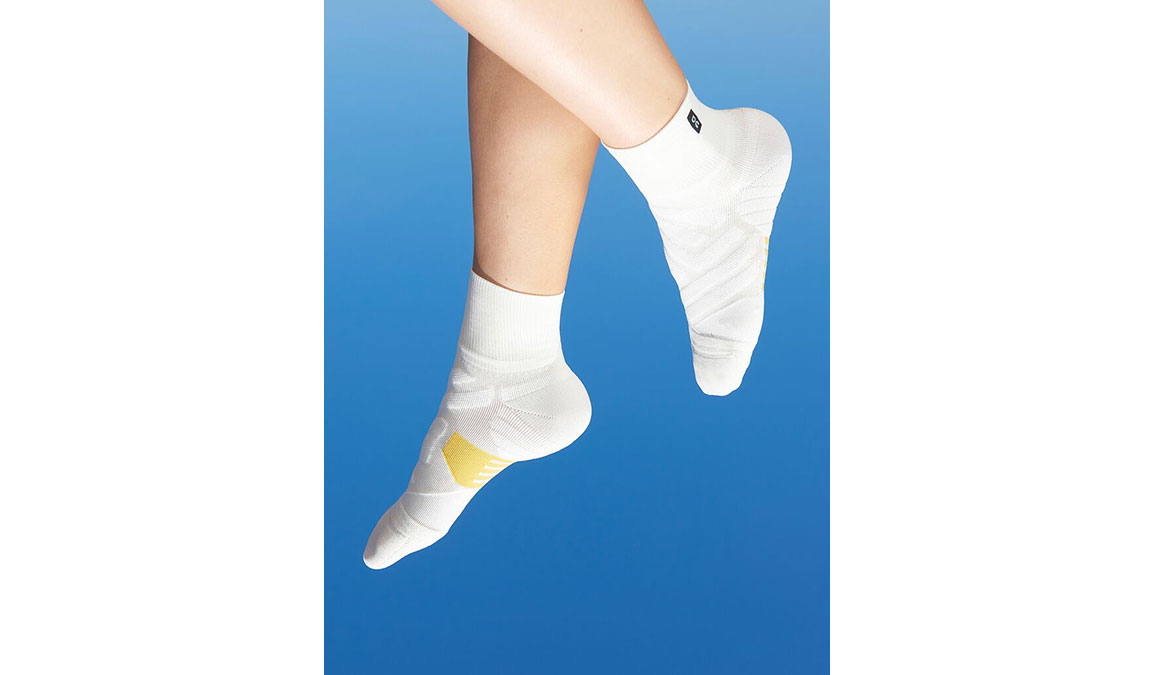 Women's On Mid Sock - Color: White/Ice Size: XS, White, large, image 1