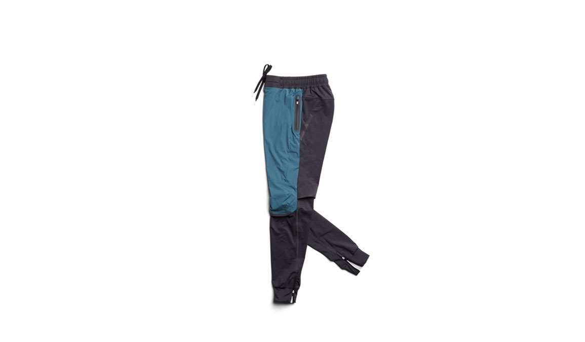 Women's On Running Pants - Color: Black/Storm Size: XS, Black/Blue, large, image 1