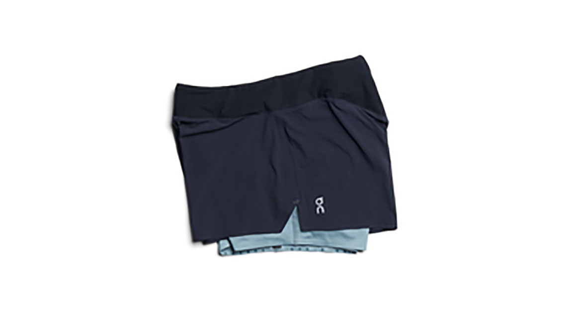 Women's On Running Shorts - Color: Black/Blue Size: XS, Black/Blue, large, image 1