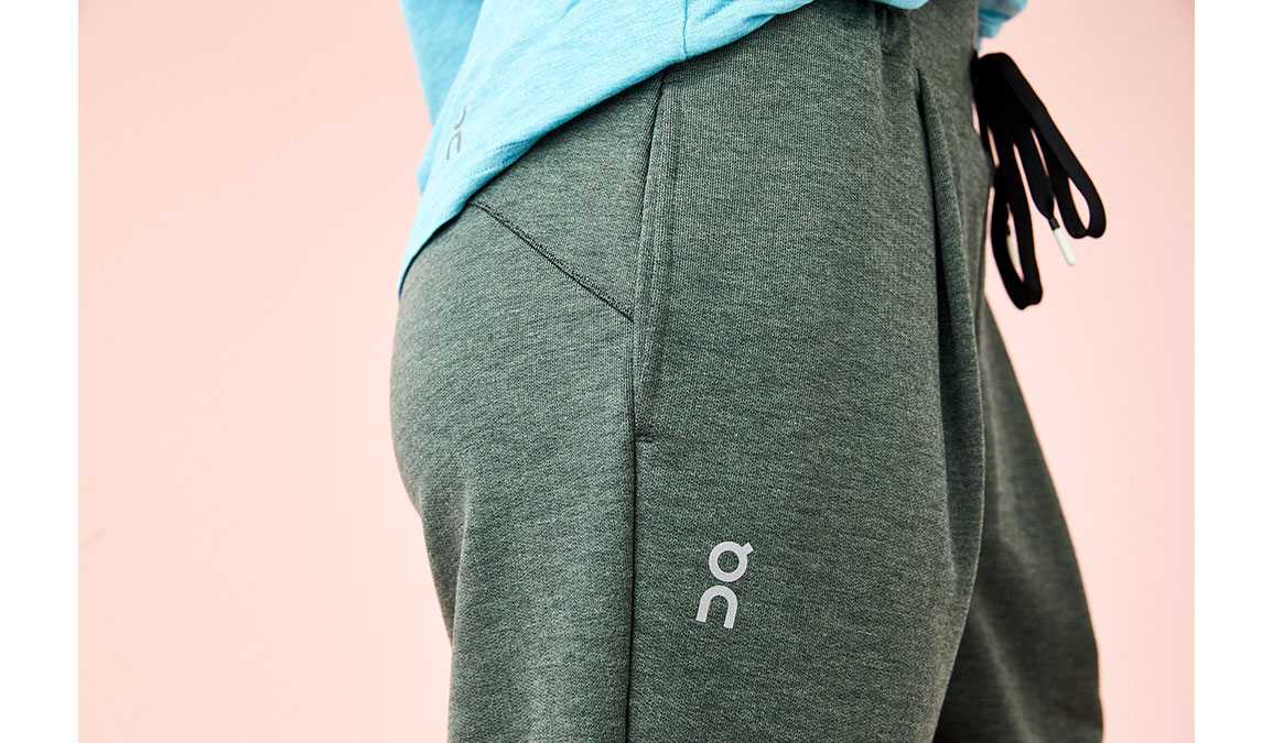 Women's On Sweat Pants - Color: Beluga Size: XS, Green, large, image 4