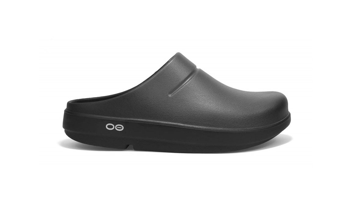 Women's Oofos OOcloog Luxe Clog - Color: Graphite (Regular Width) - Size: 6, Graphite, large, image 1