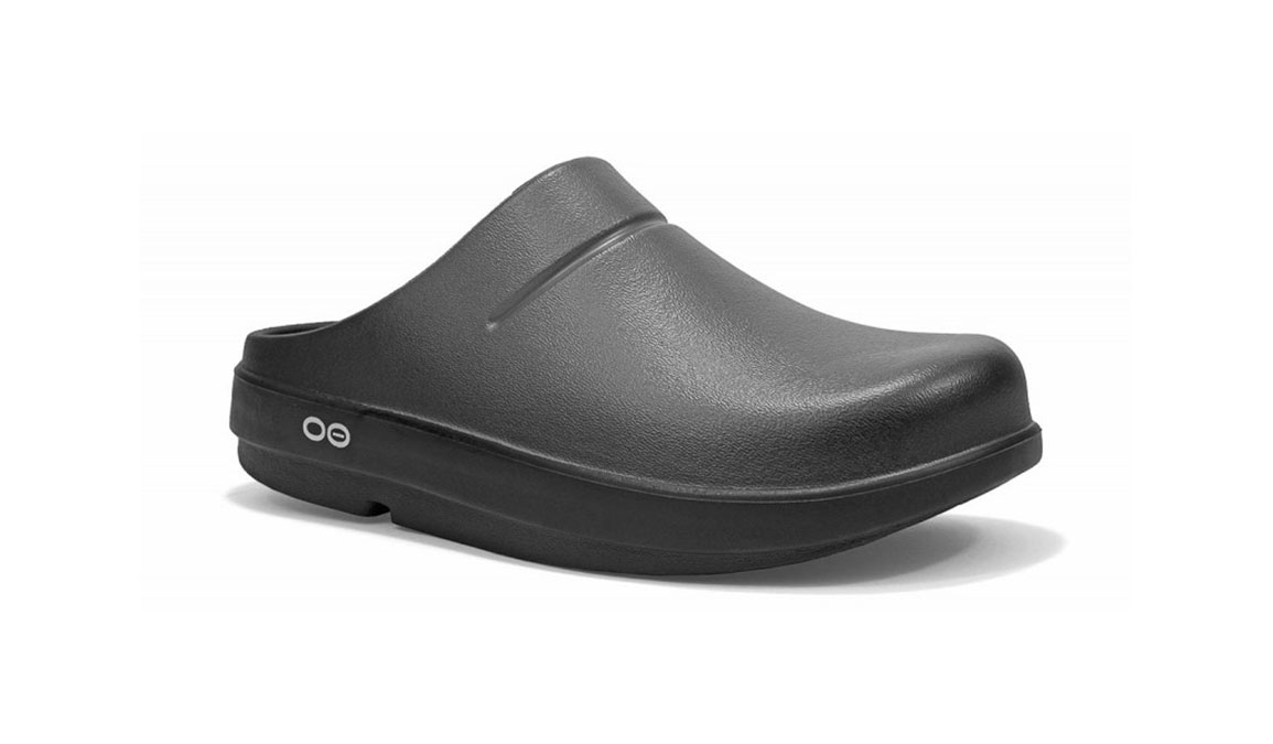 Women's Oofos OOcloog Luxe Clog - Color: Graphite (Regular Width) - Size: 6, Graphite, large, image 2
