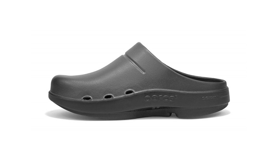 Women's Oofos OOcloog Luxe Clog - Color: Graphite (Regular Width) - Size: 6, Graphite, large, image 4