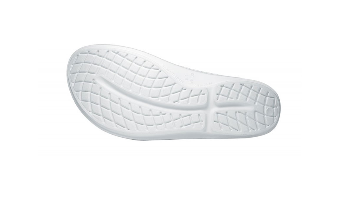 Women's Oofos OOlala Thong Recovery Sandal - Color: White/White - Size: 6, White/White, large, image 4