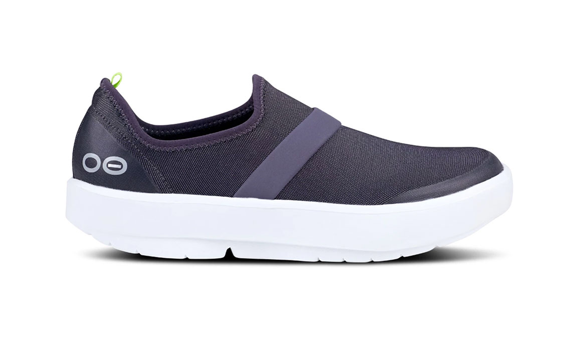 Women's Oofos OOmg Fibre Recovery Shoe - Color: White/Slate Purple (Regular Width) - Size: 5, White/Purple, large, image 1