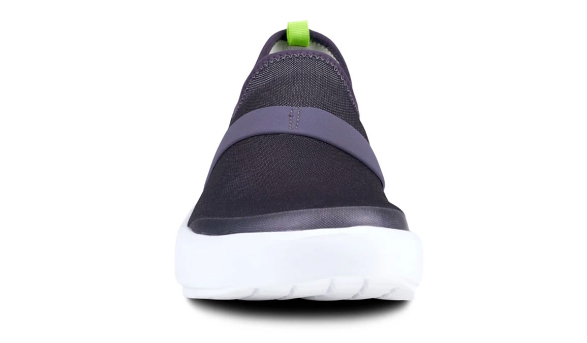 Women's Oofos OOmg Fibre Recovery Shoe - Color: White/Slate Purple (Regular Width) - Size: 5, White/Purple, large, image 4