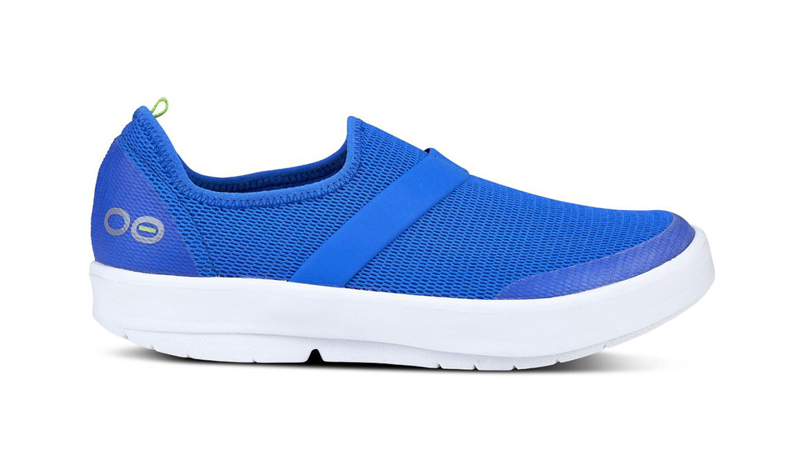 Women's Oofos OOmg Slip-On Recovery Shoe - Color: Blue (Regular Width) - Size: 6, Blue, large, image 1