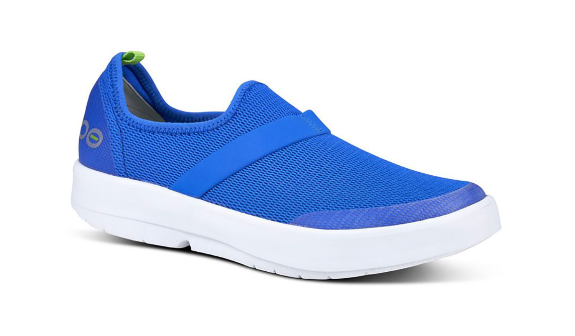 Women's Oofos OOmg Slip-On Recovery Shoe - Color: Blue (Regular Width) - Size: 6, Blue, large, image 2