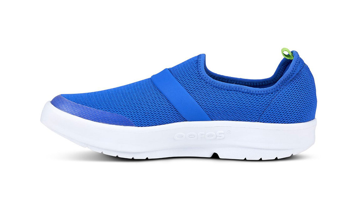 Women's Oofos OOmg Slip-On Recovery Shoe - Color: Blue (Regular Width) - Size: 6, Blue, large, image 3