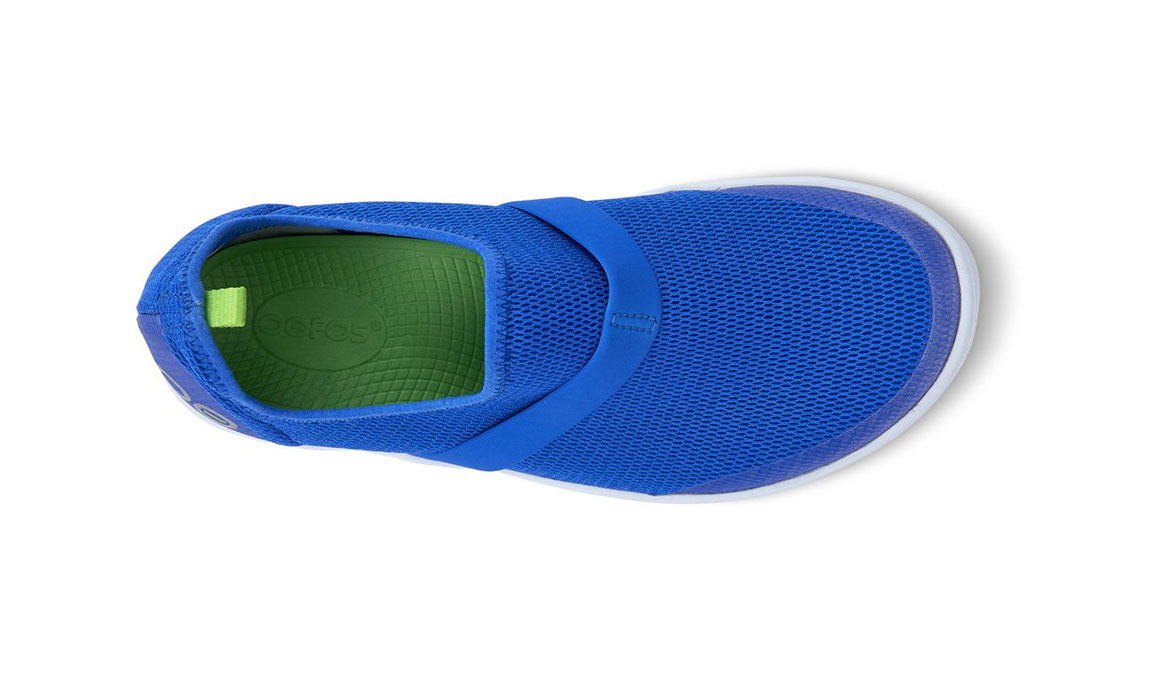 Women's Oofos OOmg Slip-On Recovery Shoe - Color: Blue (Regular Width) - Size: 6, Blue, large, image 4