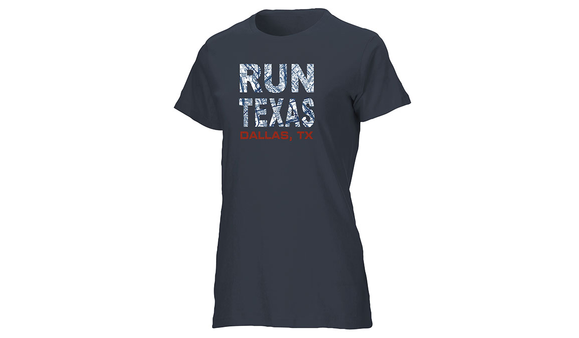 Women's Ouray Run Texas Map T-Shirt - Color: Vintage Navy Size: S, Navy, large, image 1