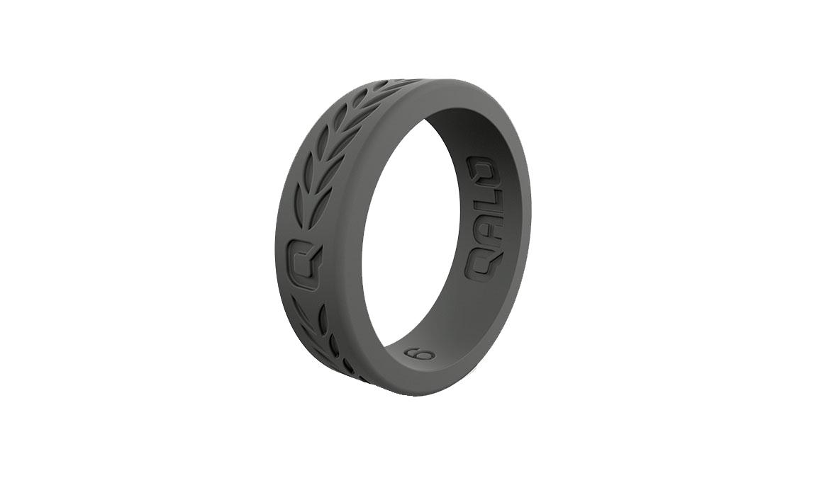 Women's Qalo Laurel Ring - Color: Charcoal Size: 4, Charcoal, large, image 1